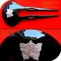二重棒有機ホーン髪スティックを蝶します。