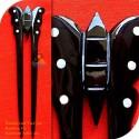 Schmetterling, Doppel-Stick Bio Horn & Mutter der Perle Haar Stick