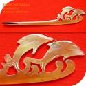 Dolphins Organic Horn Hair Stick