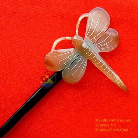 Dragonfly Organic Horn Hair Stick