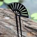 Вентилятор Двухместный Придерживайтесь Органические Хорн волос При