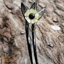 Flower Double Stick Organic Horn Hair Stick