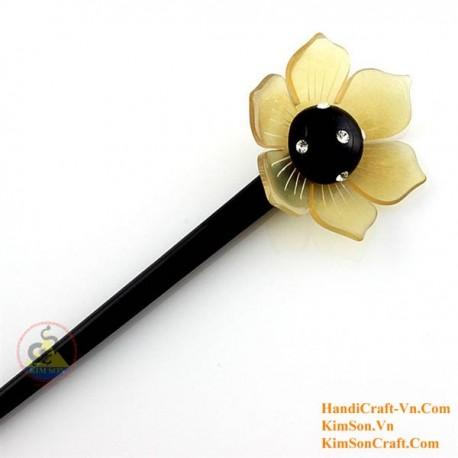 Flower Organic Horn Hair Stick