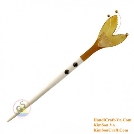 Flower Organic Horn & Bone Hair Stick