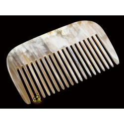 Real Horn Comb - Rake tooth - 10 x 6.5 cm (3.93 x 2.55 Inch)