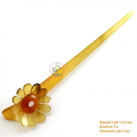 Flower Organic Horn Hair Stick
