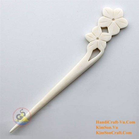Flowers Organic Bone Hair Stick