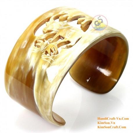 Природный рог браслет - Модель 0107