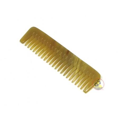 本物の牛角櫛 - 歯 - 170 x 35 mm (6.69 × 1.37 インチ)