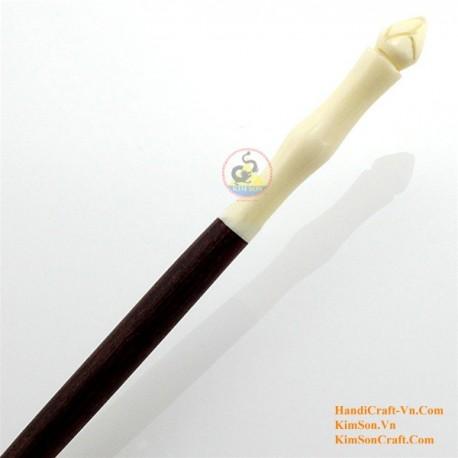 Органические Хорн и кости ручка волос