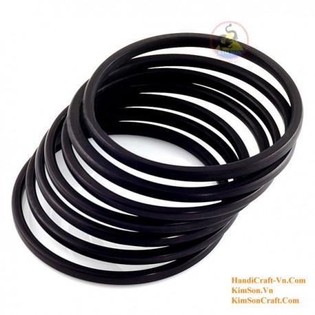 Natural wood bracelet set of 7 - Model 0137