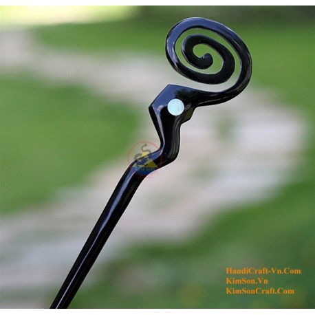 Organic Horn & Mother of Pearl Hair Stick