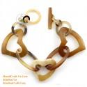 Природный рог браслет - Модель 0158