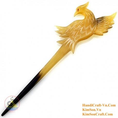 Phoenix Organic Horn Hair Stick