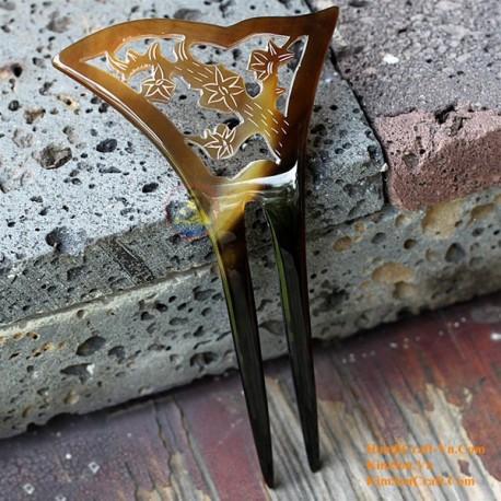 Tree Double Stick Organic Horn Hair Stick