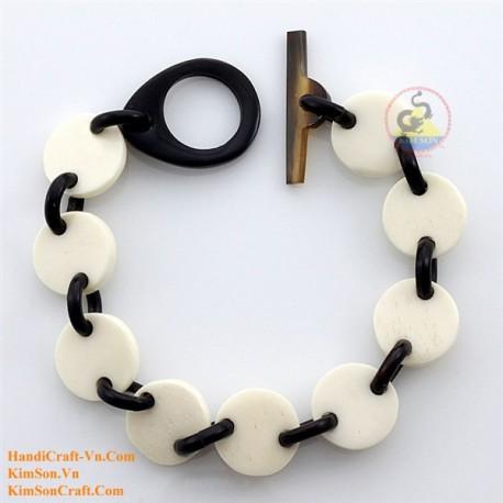 Natural horn and bone bracelet - Model 0187