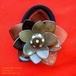 Flower Organic Horn Ponytail