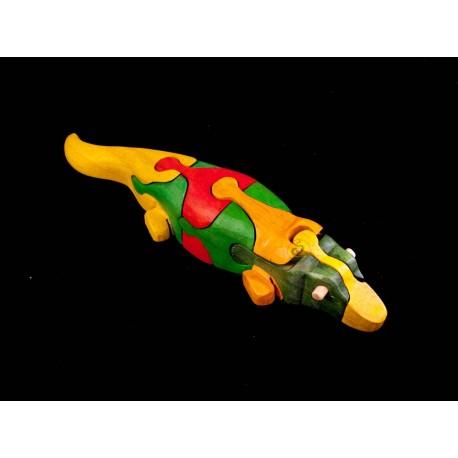 Крокодил головоломки деревянные игрушки ручной работы - Зеленый - Материал & Красочный безопасности