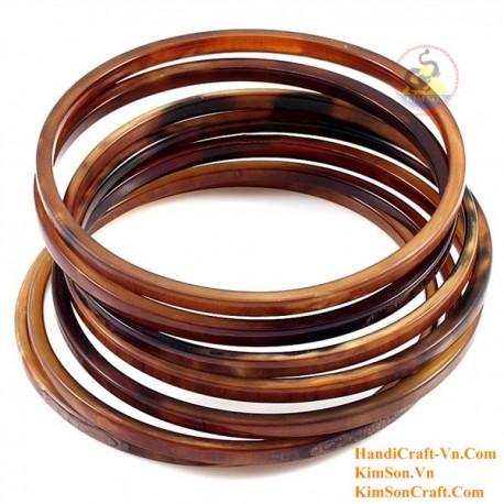 Natural horn bracelet set of 7 - Model 0190