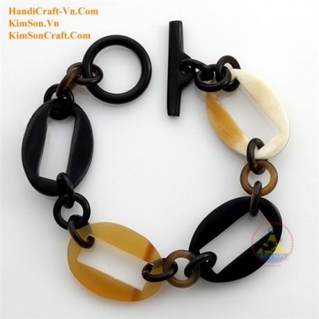 Природный рог браслет - Модель 0197