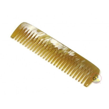 Genuine Horn Comb - Medium Pocket Style - 108 x 25 mm (4.25 x 0.98 Inch)