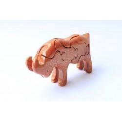 Овцы головоломки деревянные игрушки - ручной - зеленый Материал & Натуральный цвет древесины