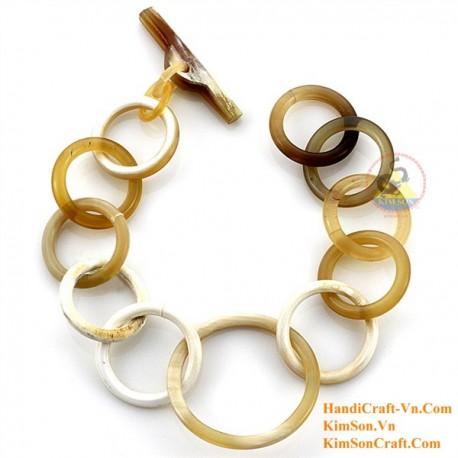 Природный рог браслет - Модель 0210