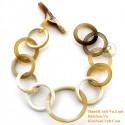 Natural horn bracelet - Model 0210