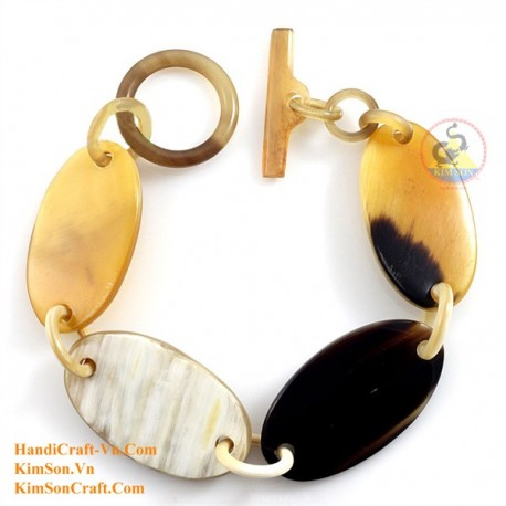 Natural circle horn necklace - Model 0009