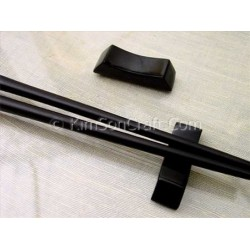 Chopsticks holder in black horn