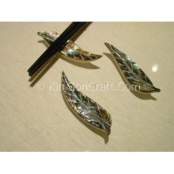 Chopsticks holder leaf petrol mother of pearl + abalone