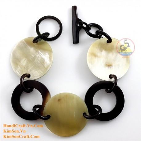 Природный рог браслет - Модель 0217
