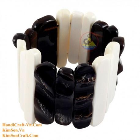 Natural horn and bone bracelet - Model 0224