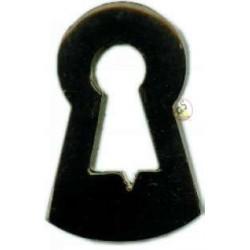 Rosette aus schwarzem Horn