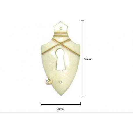 Escutcheon From Buffalo Bone