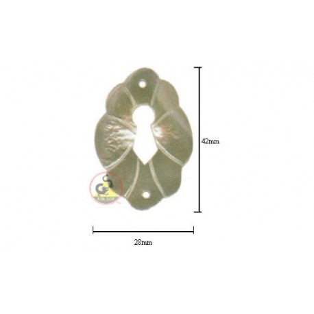 Escutcheon From White Mother Of Pearl