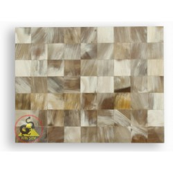 Мозаика плитка - белый мрамор - Крупный рогатый скот Рога