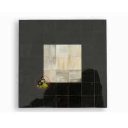 Mosaic tile - White Marble Combine With Black Color - Cattle Horn