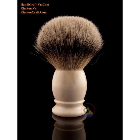 Оригинальные Крупный рогатый скот костей - цвет слоновой кости - помазок с серебряной Tip Badger волос (размер Узел от 21 до 28
