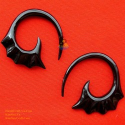 Organic Earrings Handmade from Buffalo Horn