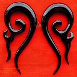 Organische Ohrringe handgefertigt aus Büffelhorn