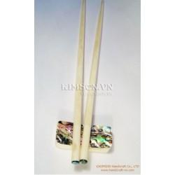 Палочки для еды ручной работы из буйволиного кости, морского ушка в голову
