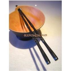 Палочки для еды из черного дерева ручной работы из бамбука + раздела стиле
