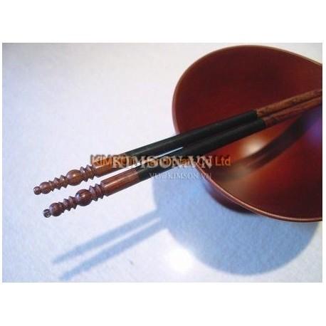 2cm x 5cm x 1cm - Chopsticks holder - Handmade from cattle white horn - Trapeziumshape shape