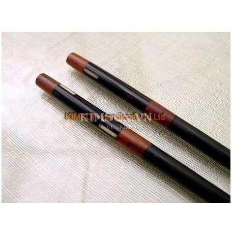 Chopsticks handmade from ebony and bone marquetry