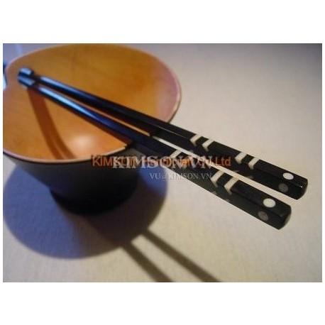 Палочки для еды ручной работы из черного дерева, кости буйвола точки + наклонной буйвола кости