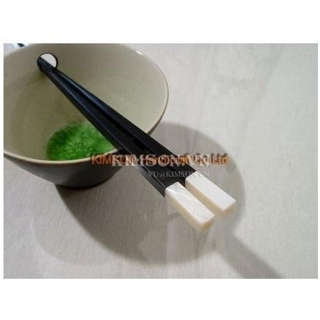 Палочки для еды ручной работы из черного дерева и перламутра
