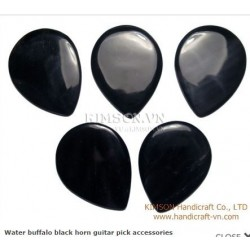 Guitar pic accessories handmade from water buffalo black horn