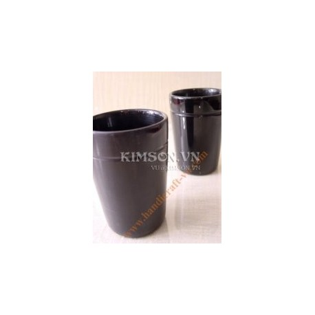 Cup large in buffalo black horn