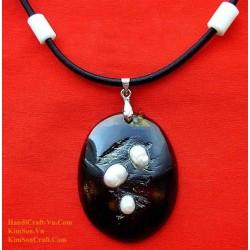 Изысканный ручной Органические Хорн и Перл ожерелье